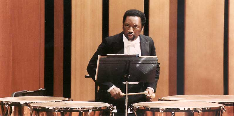 Seattle Symphony Timpanist Mike Crusoe, Photo courtesy of KCTS-TV